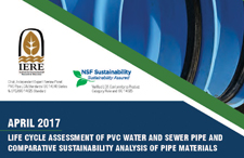 2017 Life Cycle Assessment of PVC Water and Sewer Pipe and Comparative Sustainability Analysis of Pipe Materials